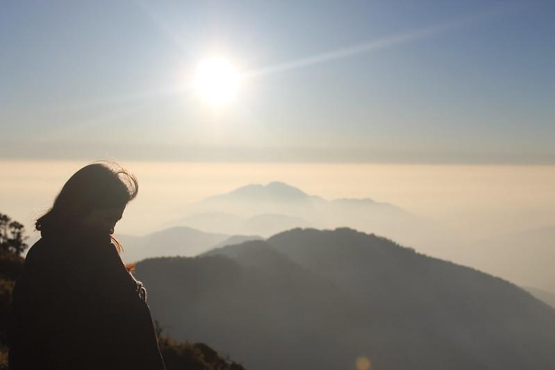 【合歡山主峰】日落,不完美剪影